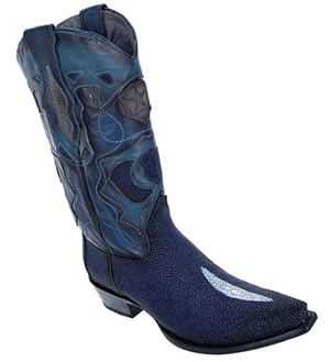 Blue stingray boots