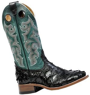 Pirarucu leather boots