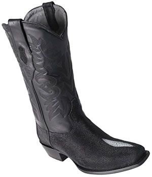 Pearl Stingray Skin Boots