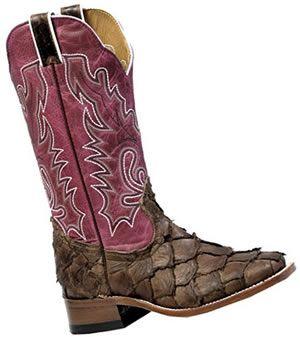 Women pirarucu leather boots