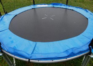 Cleaning trampoline netting