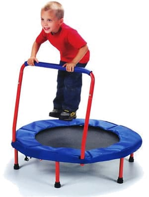Child trampoline with bar