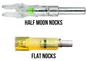 Flat and half moon lighted nocks