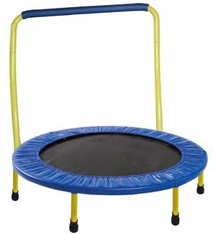 Foldable Trampoline with Bar for Toddler