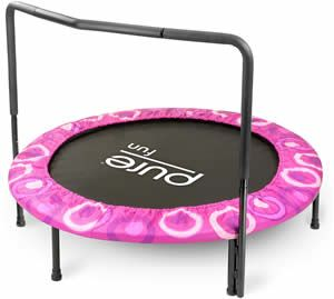 Pink Toddler Trampoline with Bar