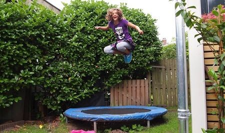 Burn calories on trampoline