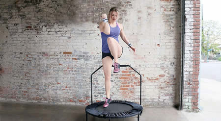 How many calories do you burn jumping on a trampoline?