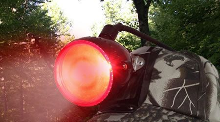 Red spotlights for coyotes